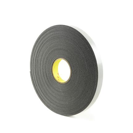 3M 4462 Double Coated Polyethylene Foam Tape Black 1 in x 72 yd Roll
