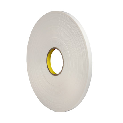 3M 4462 Double Coated Polyethylene Foam Tape White 0.5 in x 72 yd Roll