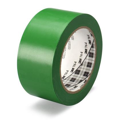 3M 764 General Purpose Vinyl Tape Green 2 in x 36 yd Roll