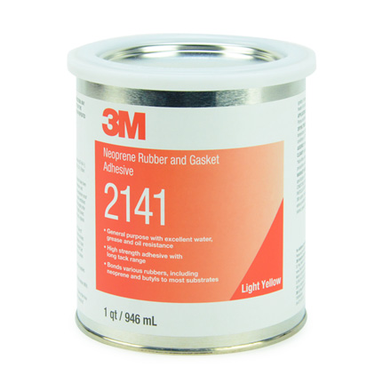 3M 2141 Neoprene Rubber and Gasket Adhesive Light Yellow 1 qt Can