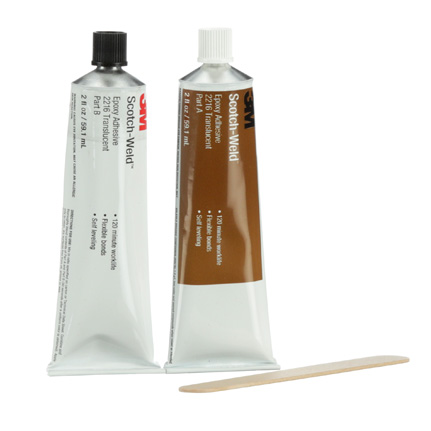 3M Scotch-Weld 2216 Epoxy Adhesive Clear 2 oz Tube Kit