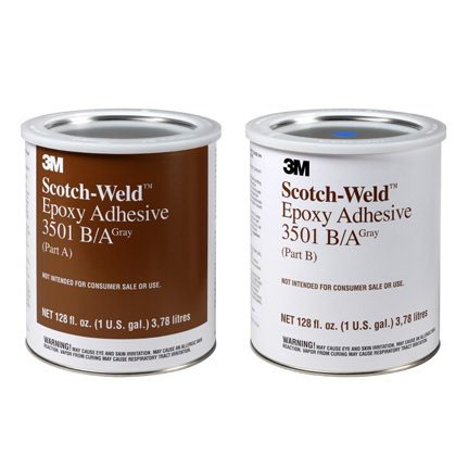 3M Scotch-Weld 3501 Epoxy Adhesive Gray 1 gal Kit