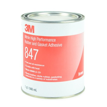3M 847 Nitrile High Performance Rubber and Gasket Adhesive Brown 1 qt Can