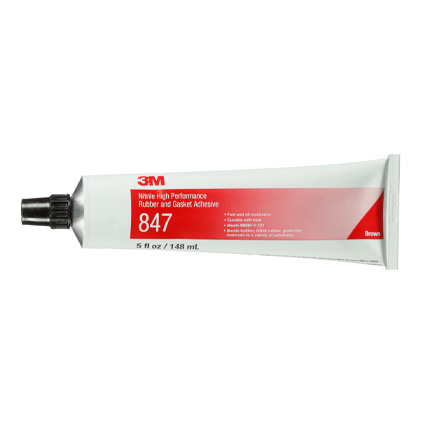 3M 847 Nitrile Rubber and Gasket Adhesive Brown 5 oz Tube