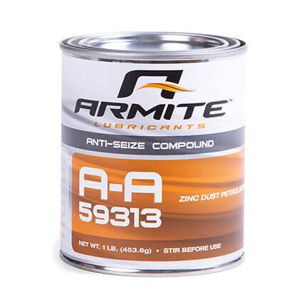 Armite Lubricants A-A-59313 Zinc Based Anti-Seize Compound Gray 1 lb Can