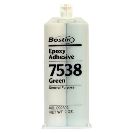 Bostik 7538 Epoxy Adhesive Green 2 oz Cartridge