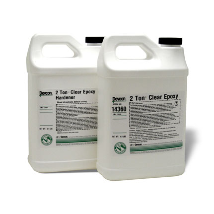 ITW Performance Polymers Devcon 2 Ton Epoxy Adhesive Clear 9 lb Kit