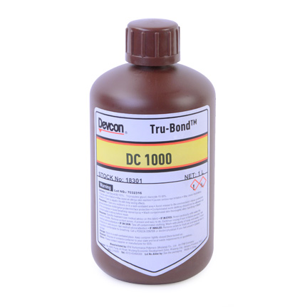 ITW Polymers Adhesives Devcon Tru-Bond DC 1000 UV Cure Adhesive Clear 1 L Bottle