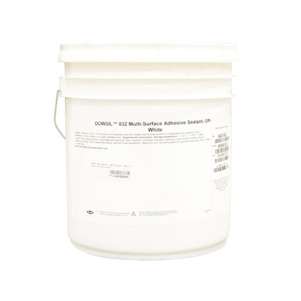 Dow DOWSIL™ 832 Multi-Surface Adhesive Sealant Silicone Off-White 22.7 kg Pail