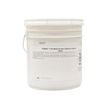 Dow Corning 832 Multi-Surface Adhesive Sealant Silicone Black 22 7 kg Pail