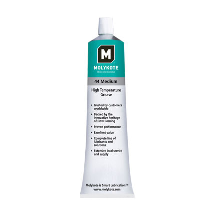 Dow MOLYKOTE™ 44 High Temperature Bearing Grease, Medium, Off-White 150 g Tube