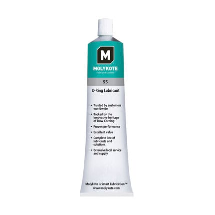 O Ring Lubricant >> Dow Molykote 55 O Ring Grease Off White 150 G Tube