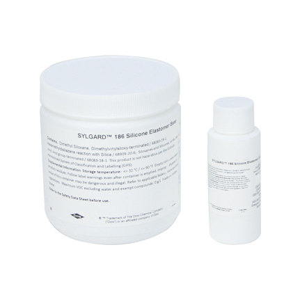 Dow SYLGARD™ 186 Silicone Elastomer Clear 0.5 kg Kit