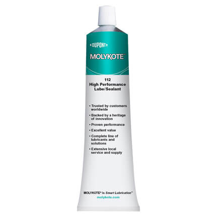 DuPont MOLYKOTE® 112 High Performance Lubricant-Sealant Off-White 150 g Tube