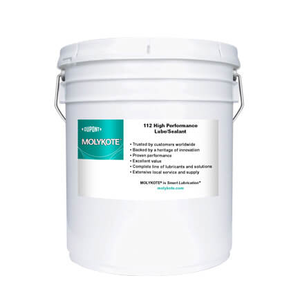 DuPont MOLYKOTE® 112 High Performance Lubricant-Sealant Off-White 18.1 kg Pail
