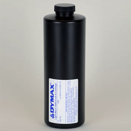 dymax light weld 429 uv curing adhesive clear 1 l bottle
