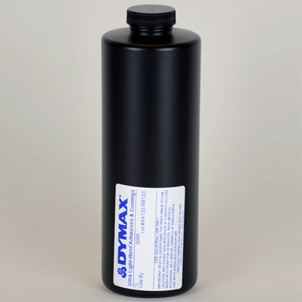 dymax ultra light weld 174 3099 uv curing adhesive clear 1 l bottle