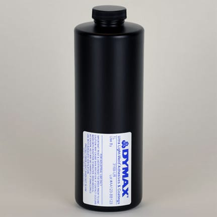 dymax ultra fluorescing 3169 ur uv curing adhesive clear 1 l bottle
