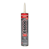 Eclectic E6000 Industrial Strength Solvent Based Adhesive Clear 10.2 oz Cartridge