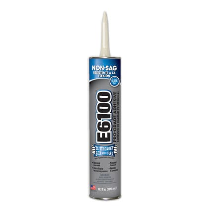 Eclectic E6100 Solvent Based Adhesive Black 10.2 oz Cartridge