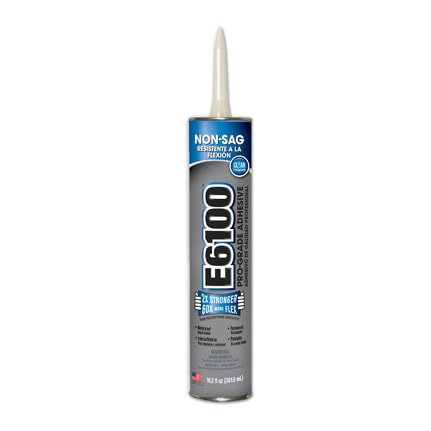 Eclectic E6100 Solvent Based Adhesive Clear 10.2 oz Cartridge