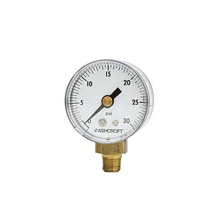 Fisnar 560611 Pressure Gauge Black 0 to 30 psi with 0.125 in NPT Top Mount