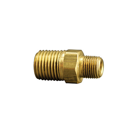 Fisnar 560614 Brass Reducing Nipple 0.25 to 0.125 in NPT Male