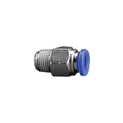 Fisnar 560746A Straight Push Connector 0.25 in OD x 0.25 in NPT Male