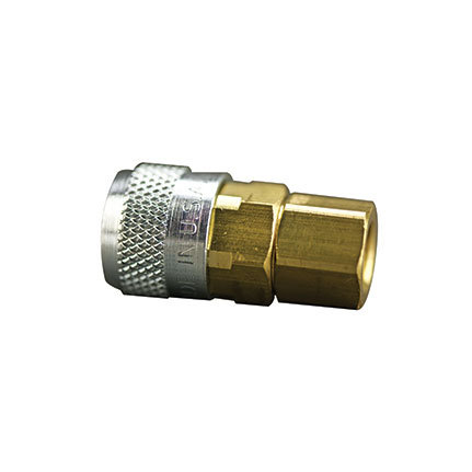 Fisnar 560784 Metal Push Connect Socket 0.25 in x 0.25 in NPT Female