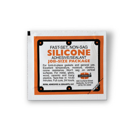 Hardman DOUBLE/BUBBLE Versatile Silicone Adhesive-Sealant Brown Package 3.5 g Packet
