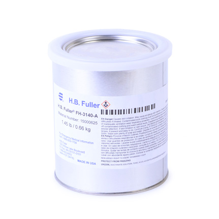 HB Fuller Uralite FH-3140 Urethane Adhesive Part A Clear 6 qt Case