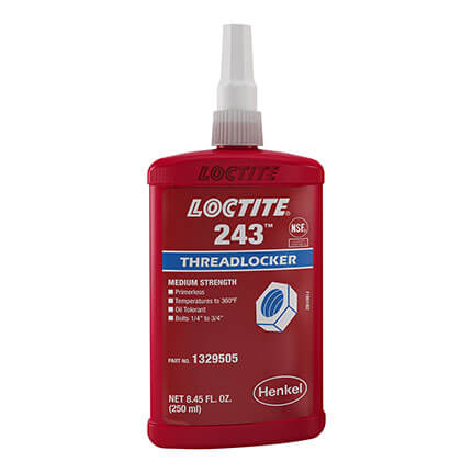 Henkel Loctite 243 Threadlocker Anaerobic Adhesive Blue 250 mL Bottle