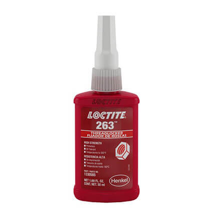 Henkel Loctite 263 Threadlocker Anaerobic Adhesive Red 50 mL Bottle