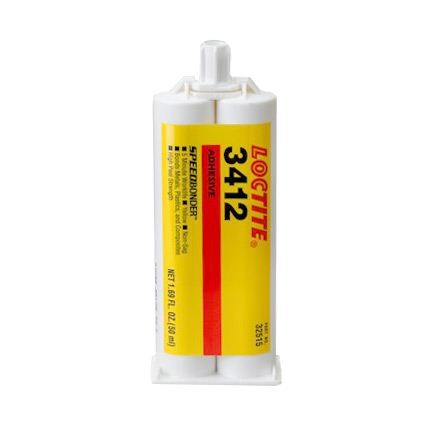 Henkel Loctite 3412 Acrylic Adhesive Pale Yellow 50 mL Cartridge