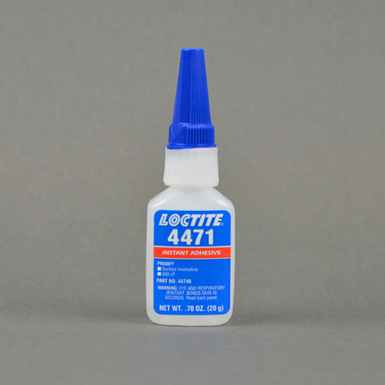 Henkel Loctite Prism 4471 Instant Adhesive Surface Insensitive Clear 20 g  Bottle