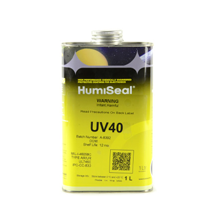 HumiSeal UV40 Dual Cure Acrylated Urethane Coating Clear 1 L Can