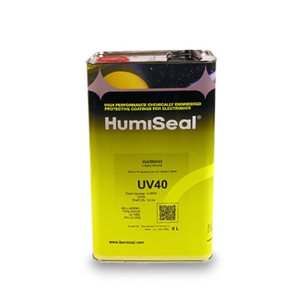 HumiSeal UV40 Dual Cure Acrylated Urethane Coating Clear 5 L Can