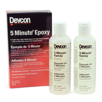 ITW Polymers Adhesives Devcon 5 Minute Epoxy Adhesive 15 oz Kit