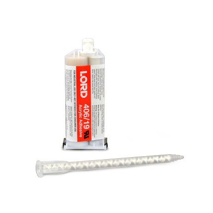 LORD® 406-19 Modified Acrylic Adhesive Off-White 50 mL Cartridge