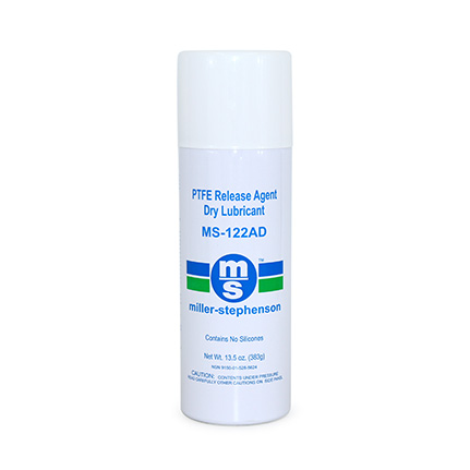 Miller-Stephenson MS-122AD PTFE Release Agent Dry Lubricant White 13.5 oz Aerosol