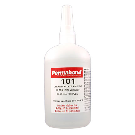 Permabond 101 General Purpose Cyanoacrylate Adhesive Clear 1 lb Bottle