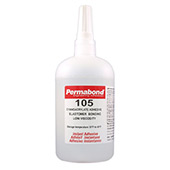 Permabond 105 General Purpose Cyanoacrylate Adhesive Clear 1 lb Bottle