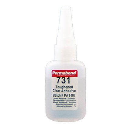Permabond 731 Toughened Cyanoacrylate Adhesive Clear 1 oz Bottle