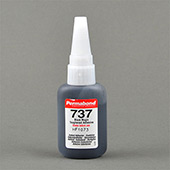 Permabond 737 Toughened Cyanoacrylate Adhesive Black 1 oz Bottle