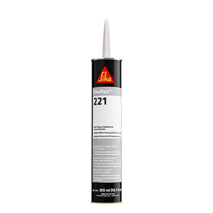 Sika Sikaflex-221 Non-Sag Polyurethane Sealant White 300 mL Cartridge