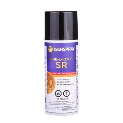 Techspray Fine-L-Kote 2102 SR Silicone Conformal Coating 12 oz Aerosol
